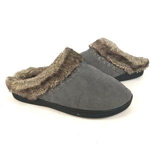Isotoner Womens Smart Zone 2 Slippers Gray